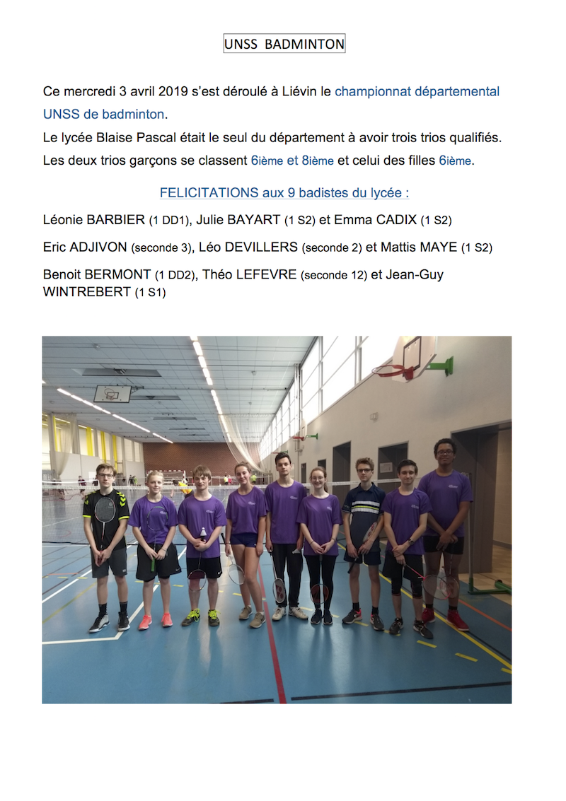 article bad 3 avril 2019